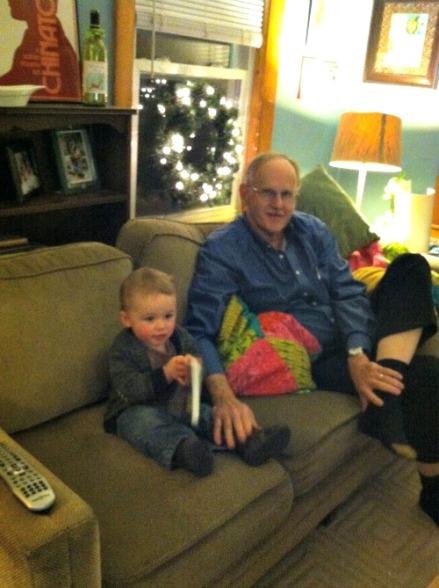 milo and grandpa xmas night